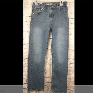 Boys Levis Straight Leg Jeans Adjustable Waist N26